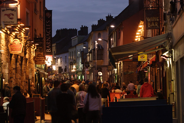 Quay Street at night, Galway City
