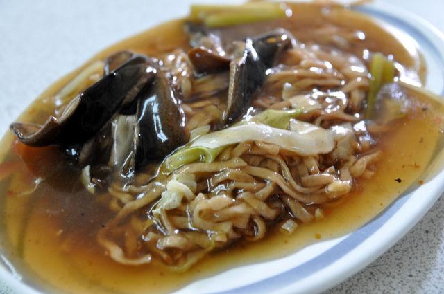台南赤崁棺材板-炒鱔魚意麵