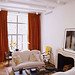 Ina Garten's New York apt: White living room + antiques + Farrow & Ball's 'Slipper Satin'