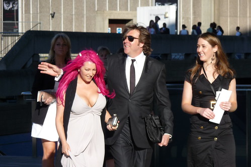 Jonathan Ross and Jane Goldman at the BAFTA's