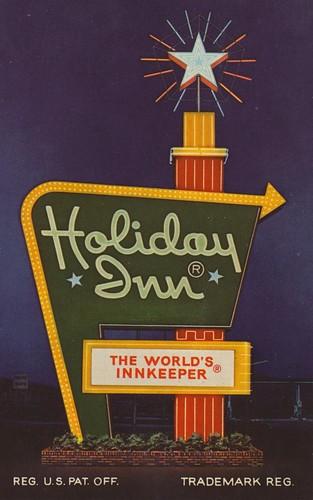 vintage postcard motel westvirginia holidayinn 1970 parkersburg stockcard