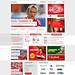Liverpool Football Club Mock Homepage Design by olliek23