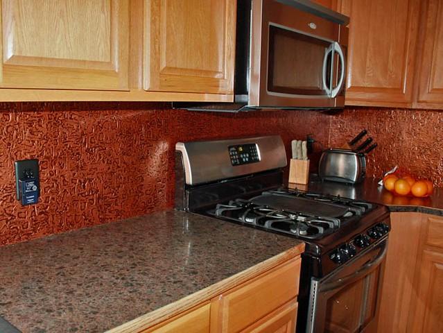 faux tin antique copper kitchen backsplash roll talissa