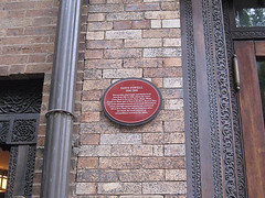 Photo of Dawn Powell red plaque