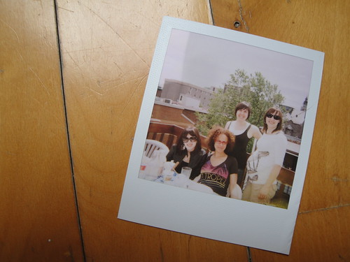Polaroid of girls on a sunny Sunday morning in June