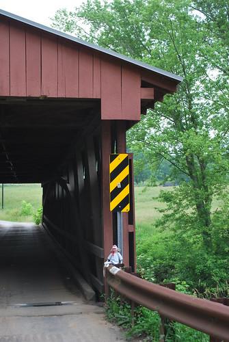 Logan at Sarvis Fork Covered Bridge