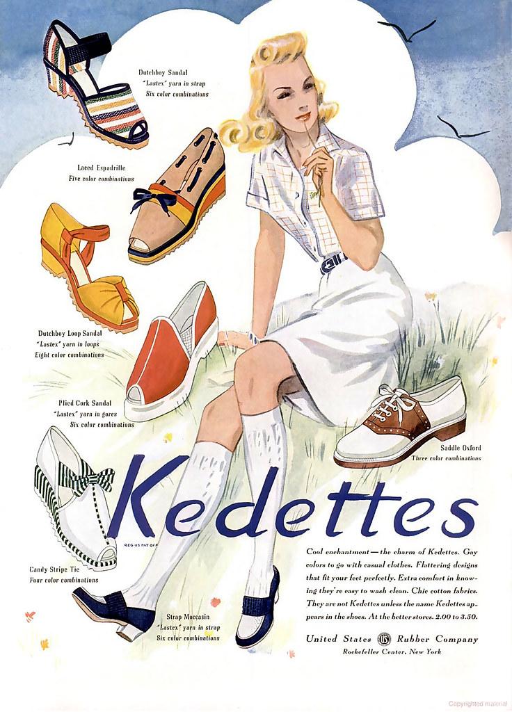 1941 (May)... see Sally's seashore shoes!