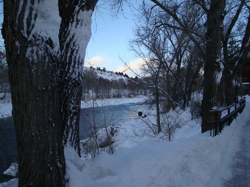 winter snow sunrise hiking trail biking co durango animasriver