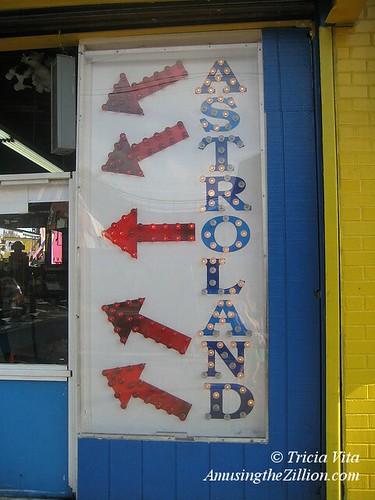 Astroland arcade sign