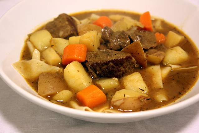 beef stew with homemade noodles | Flickr - Photo Sharing!