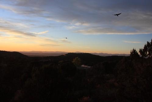 light sunset usa newmexico santafe dark desert nm mounyains