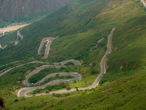 road mountains green rio clouds river colombia canyon montañas cañon chicamocha