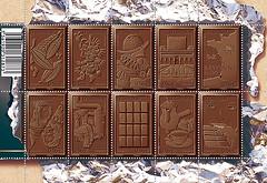 chocolate cake(0.0), food(0.0), chocolate brownie(0.0), chocolate bar(1.0), brown(1.0), chocolate(1.0),