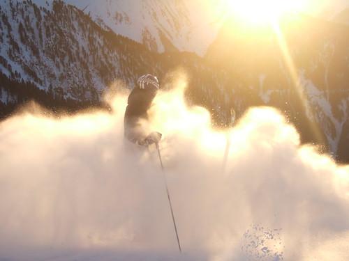 winter sunset snow alps skiing sonne skifahren pitztal hochzeiger