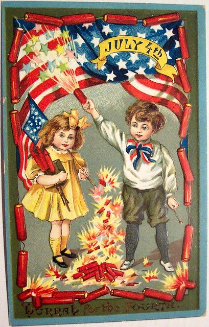 Vintage Postcard - 4th of July from Flickr via Wylio