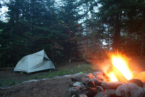 Tent by Campfire