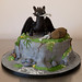 Isa's Toothless / Night Fury Cake