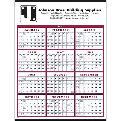 Custom Calendar - Span-A-Year 2011 Calendar