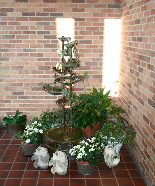 Foyer Plants : Entryway with fountain and plants flickr photo sharing