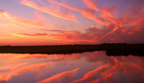 sunset usa fishing louisiana marsh np cloudscape plaquiminesparish myrtlegrove wyojones mrytlegrovelouisiana