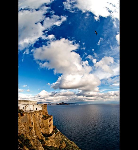 Beautiful sky from Terra murata (Procida)