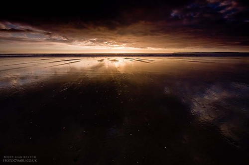 ocean sunset sea reflection beach wales coast cymru coastal aberavon porttalbot seanbolton coastine ffotocymrucouk