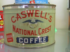 Coffee Tin by Caswell's National Crest