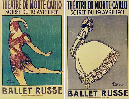 Ballets Russes - affiches 1911 - Jean Cocteau