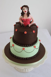 'Woman Jumping Out of a Cake' Cake