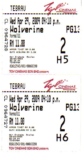 Wolverine Movie Ticket