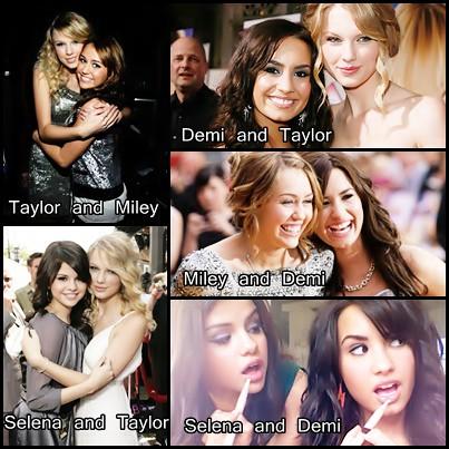 Miley Cyrus Taylor Swift Demi