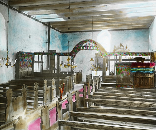 Interior, Edifjord church, ca. 1915.