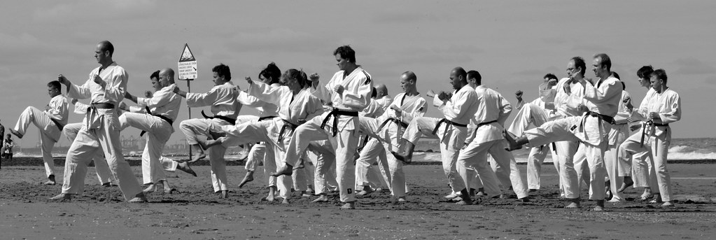 Karate on the beach!