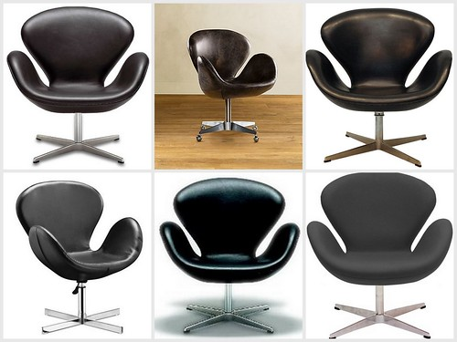 Arne Jacobsen Swan chairs: Real vs. faux