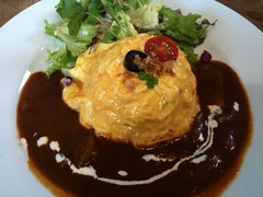 gravy, meal, breakfast, curry, omurice, food, dish, cuisine,