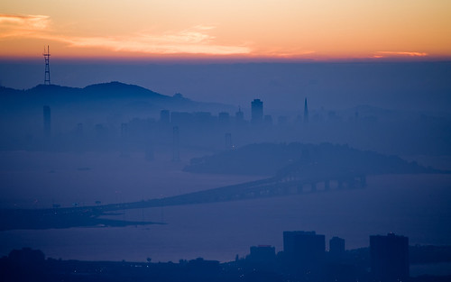 california sunset misty fog skyline night photography bay twilight nikon marine san francisco postcard bridges romance layer d90 mattgranz