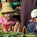 Market Vendors with Hats - Toungoo, Burma