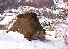 Cabana de Teito en La Campa, Saliencia (Somiedo, Asturias)
