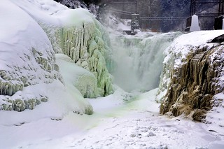 Genesee Falls on a cold morning.