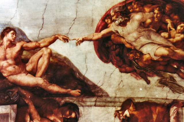 Michelangelo sistine chapel creation of adam at the vati for Creation of adam mural