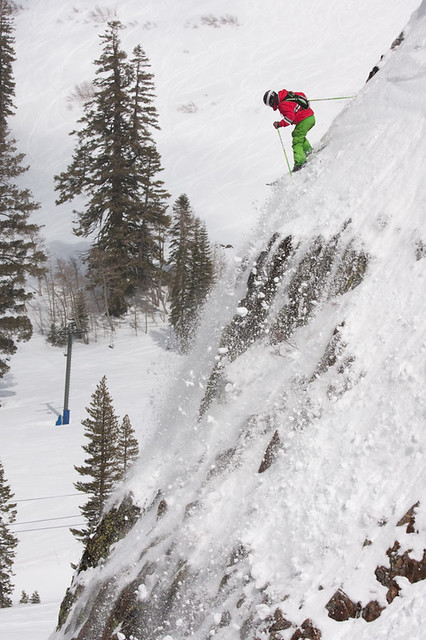 Alpine Meadows powder spring skiing steep