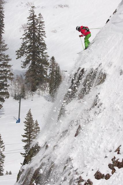 Alpine Meadows powder spring skiing steep