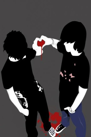 Iphone Wallpaper on Emo Friendship   Wallpaper 4 Apples Iphone Classic  Iphone 3g  Iphone