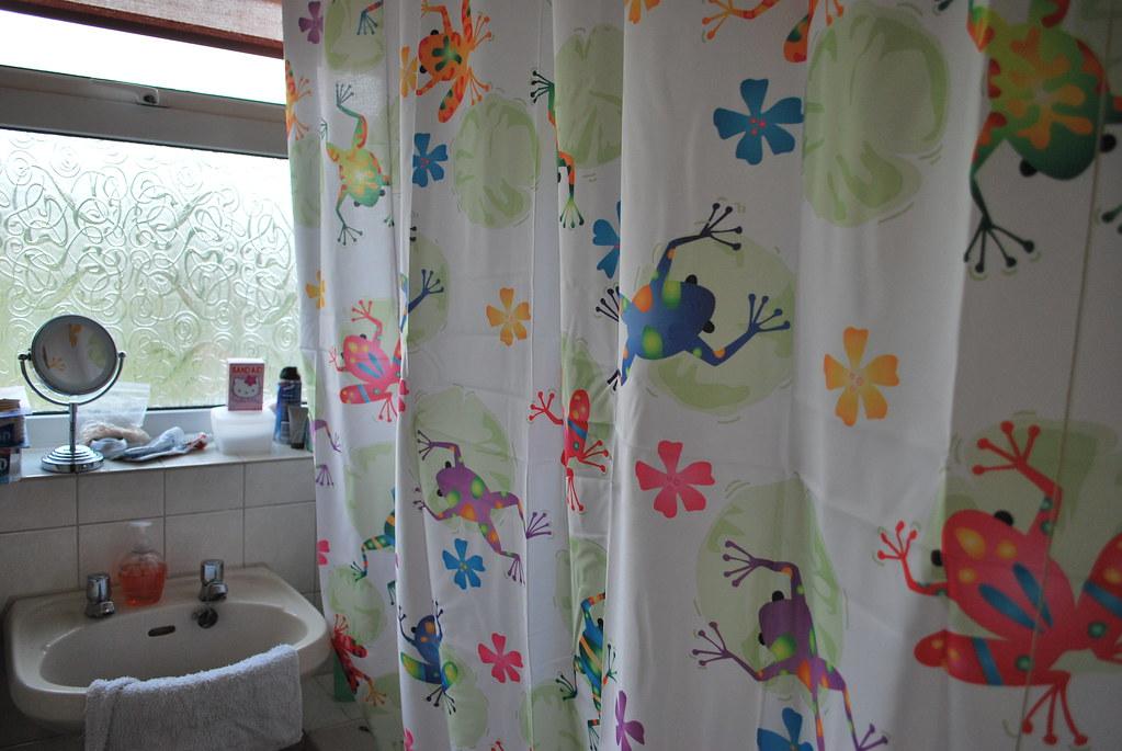 Psychodelic Frog Shower Curtain