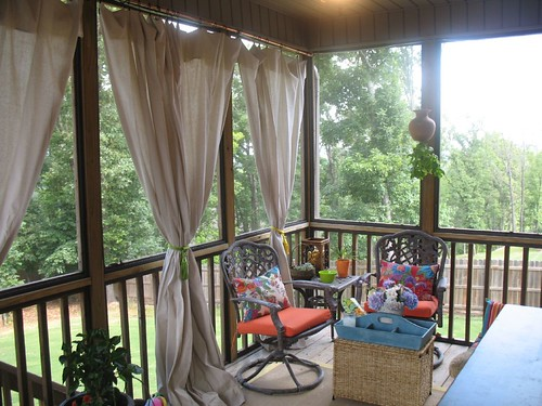 drop cloth curtain tutorial for the screened in patio unskinny boppy. Black Bedroom Furniture Sets. Home Design Ideas