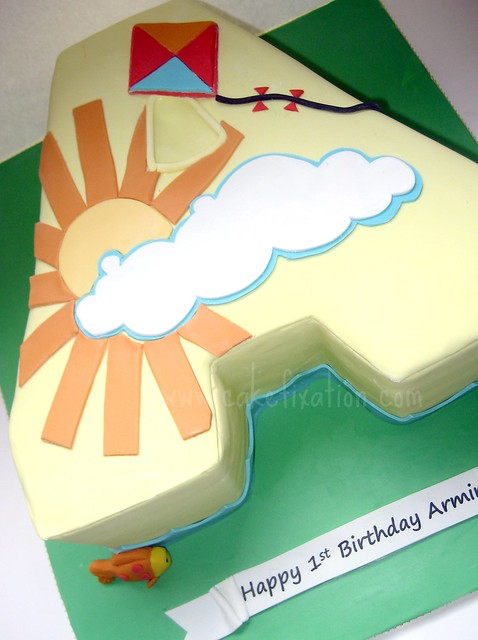 Images Of Cake With Letter S : Letter A Cake A summer themed letter  A  cake for a ...