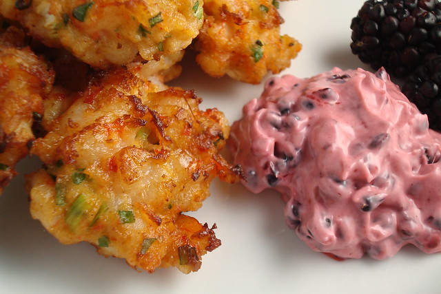 Shrimp Cake with Blackberry Dipping Sauce | Flickr - Photo Sharing!