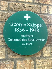 Photo of George Skipper green plaque