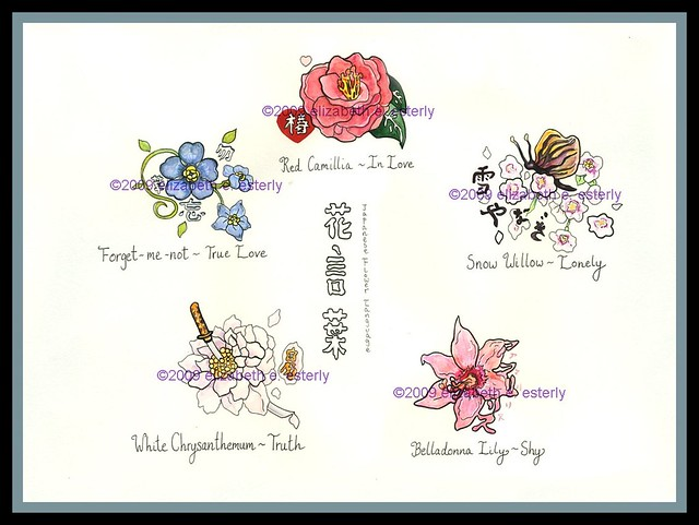 tattoo flash hanakotoba the japanese flower language