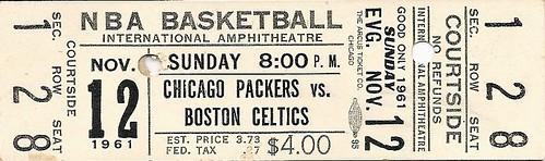 Boston Celtics vs. Chicago Packers, 1961-1962